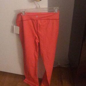 Orange Lululemon PYB Cropped Pant